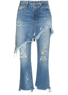 R13 Double Classic Shredded Jeans