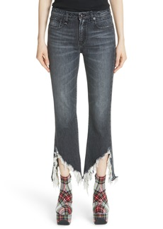 R13 Frayed Kick Fit Jeans (Harper Gray)