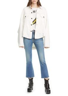 R13 High Waist Kick Fit Crop Jeans (Jasper)