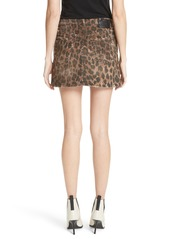 088c2b6b3 R13 R13 High Waist Leopard Print Distressed Denim Mini Skirt | Denim