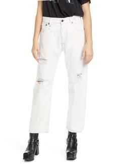 R13 High Waist Ripped Boyfriend Jeans (Nollie)