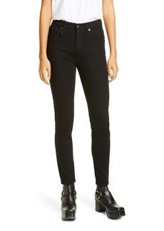 R13 High Waist Skinny Jeans (Rinsed Black)