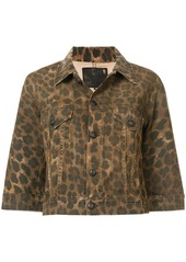 R13 Jackie Leopard Trucker jacket - Brown