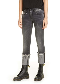 R13 Kate Cuffed Skinny Jeans (Orion Black)