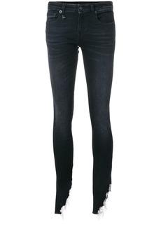 R13 Kate shredded hem skinny jeans