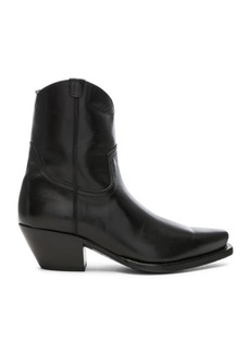 R13 Leather Cowboy Ankle Boots