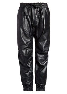 R13 Leather Crop Harem Pants