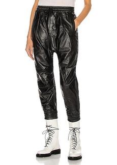 R13 Leather Harem Pant