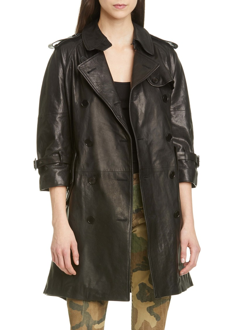 R13 Leather Trench Coat