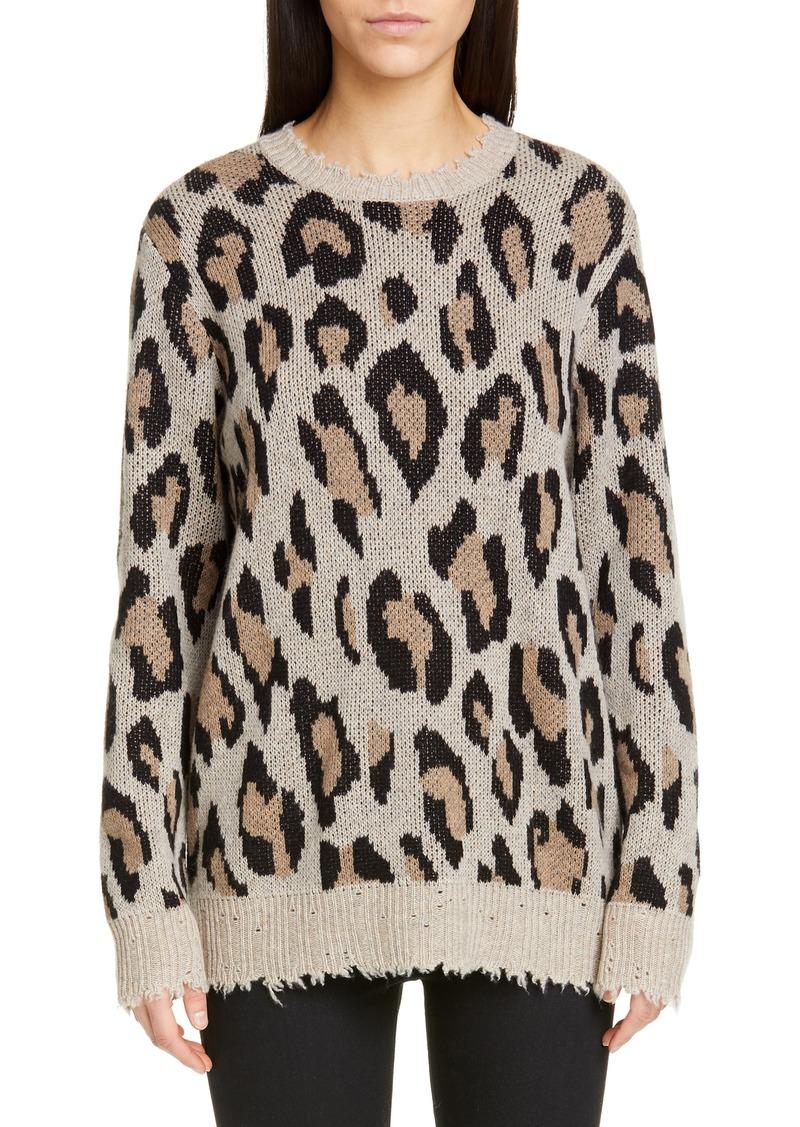 R13 Leopard Cashmere Sweater