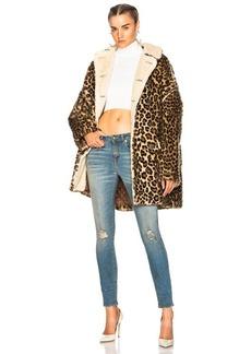 R13 Leopard Huntington Coat