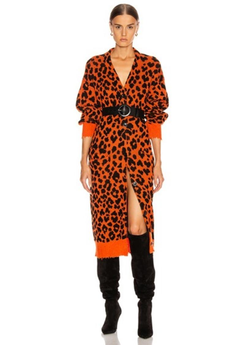 R13 Leopard Long Cardigan