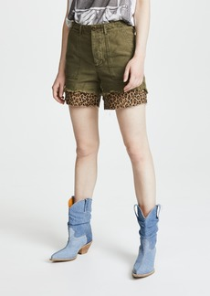 R13 Leopard Utility Camp Shorts