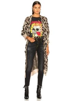 R13 Long Leopard Cardigan