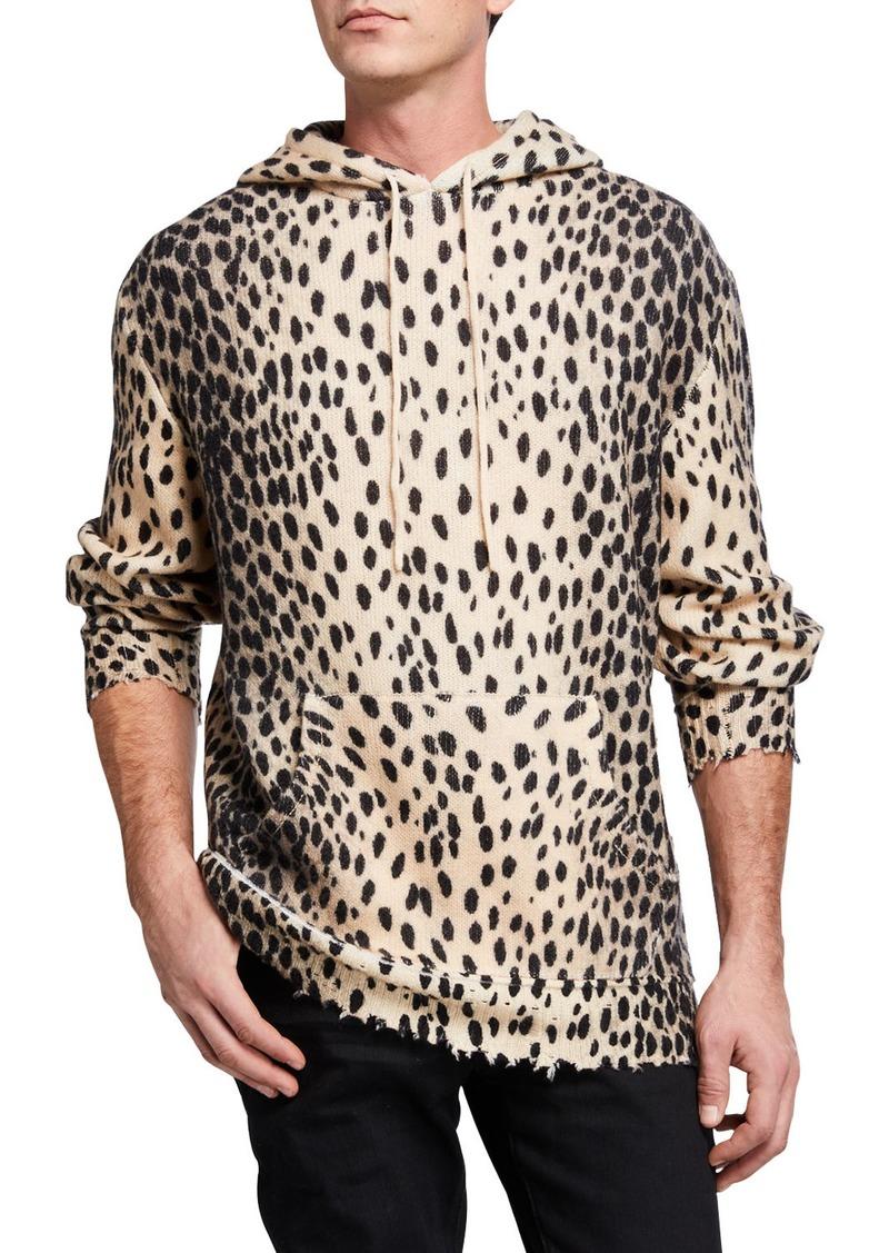 R13 Men's Cheetah Cashmere Hoodie