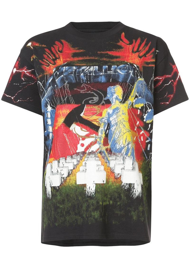 R13 Metallica print T-shirt