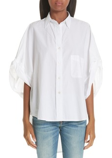 R13 Oversize Roll Sleeve Blouse