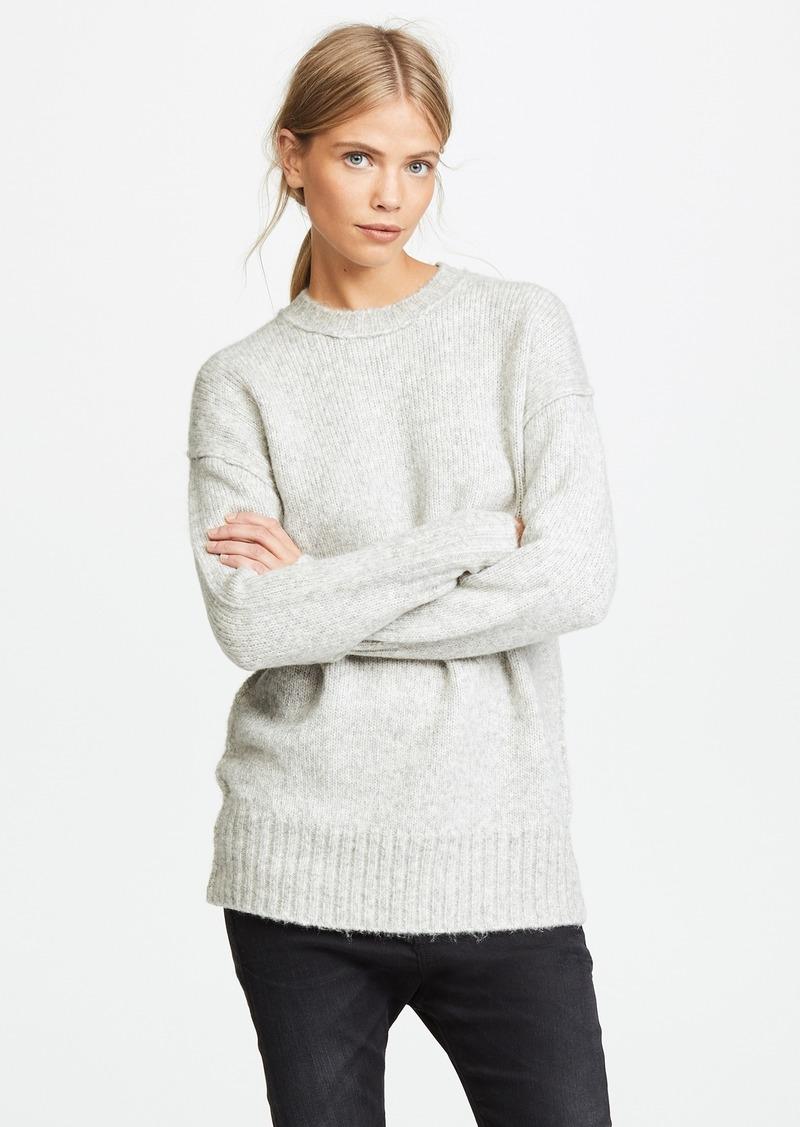R13 Oversized Crew Neck Sweater