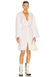 R13 Oversized Sleeve Button Up Shirt Dress