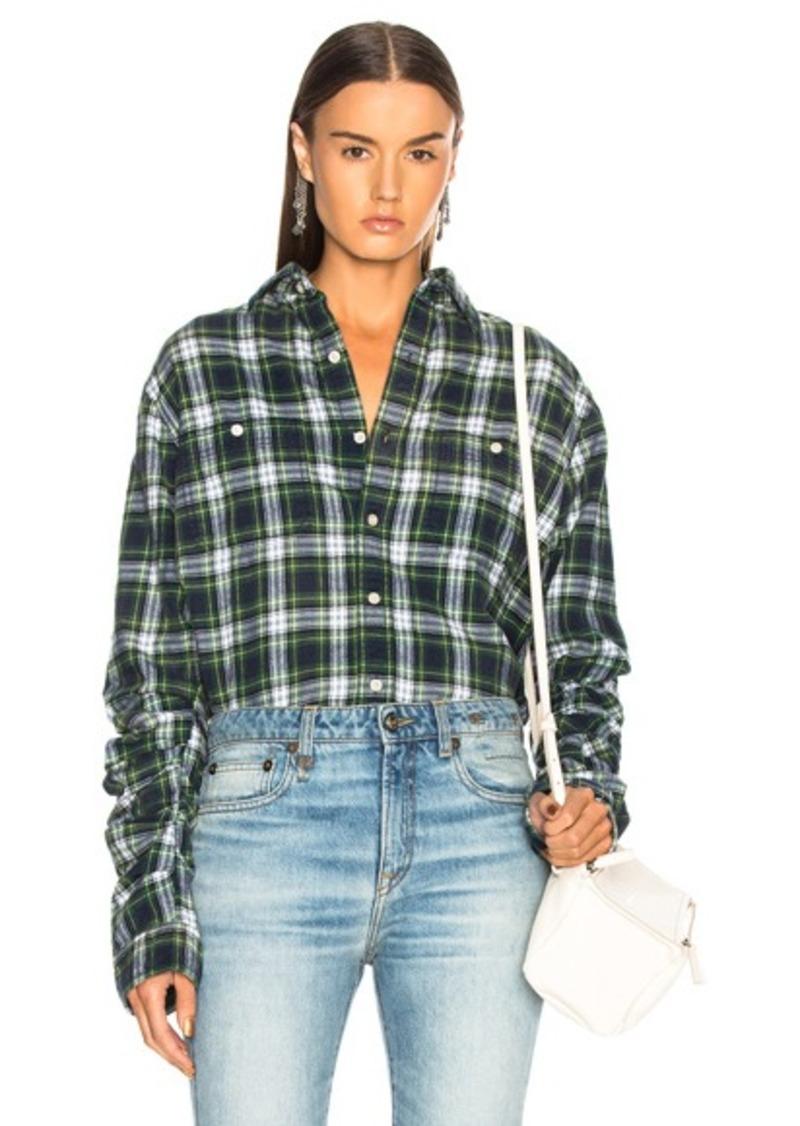 R13 Pleated Sleeve Shirt