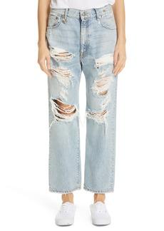 R13 Ripped Boyfriend Jeans (Milton)