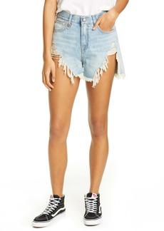 R13 Shredded Slouch Denim Shorts (Tilly)