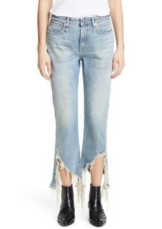 R13 Spiral Kick Ripped Bootcut Jeans (Cheryl)