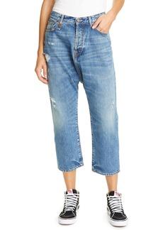 R13 Tailored Drop Straight Leg Crop Jeans (Bain)