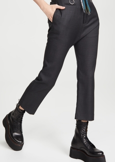 R13 Tailored Drop Trousers with Shoelace Belt