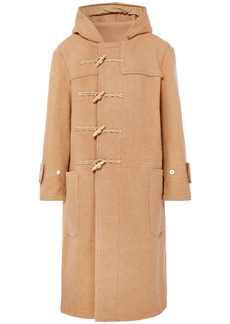R13 Woman Brushed Wool-felt Hooded Coat Camel
