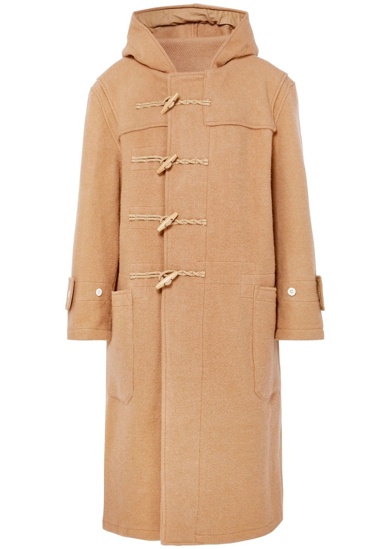 R13 Woman Brushed Wool-felt Hooded Coat Camel