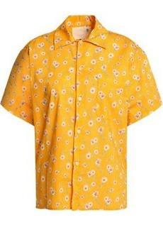 R13 Woman Floral-print Cotton-poplin Shirt Saffron