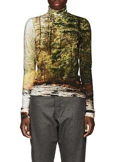 R13 Women's Forest-Print Turtleneck Top