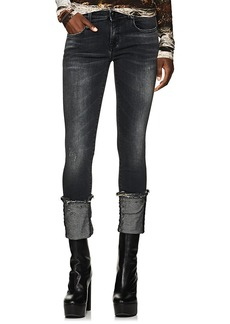R13 Women's Kate Mid-Rise Cuffed Skinny Jeans