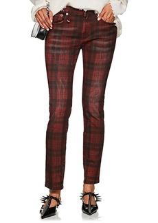 R13 Women's Kate Plaid Skinny Jeans