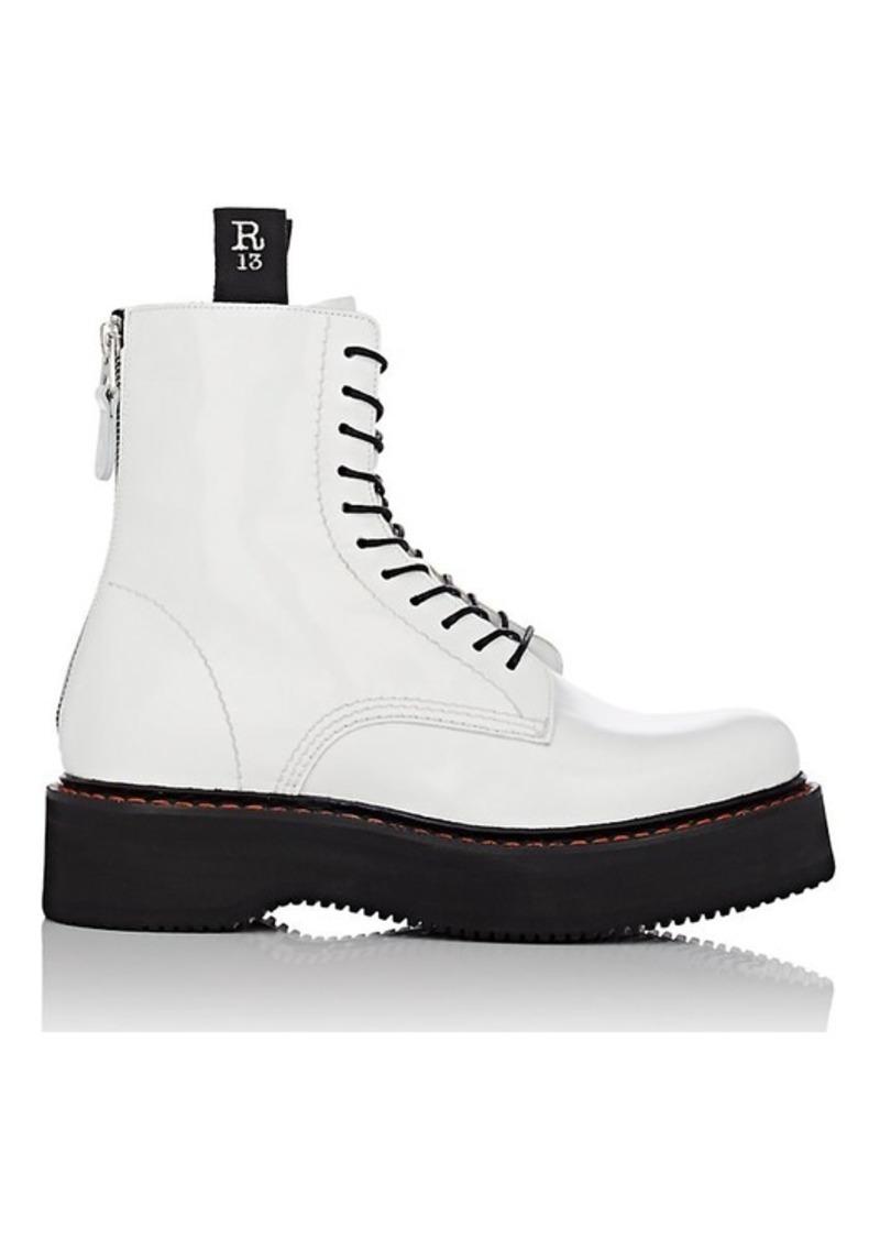 fadffad6f6c Women's Women's Single Stack Patent Leather Combat Boots