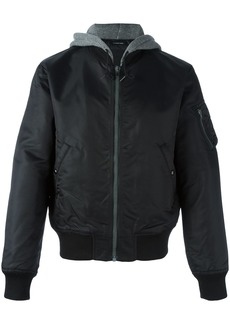 R13 zipped detail hooded jacket