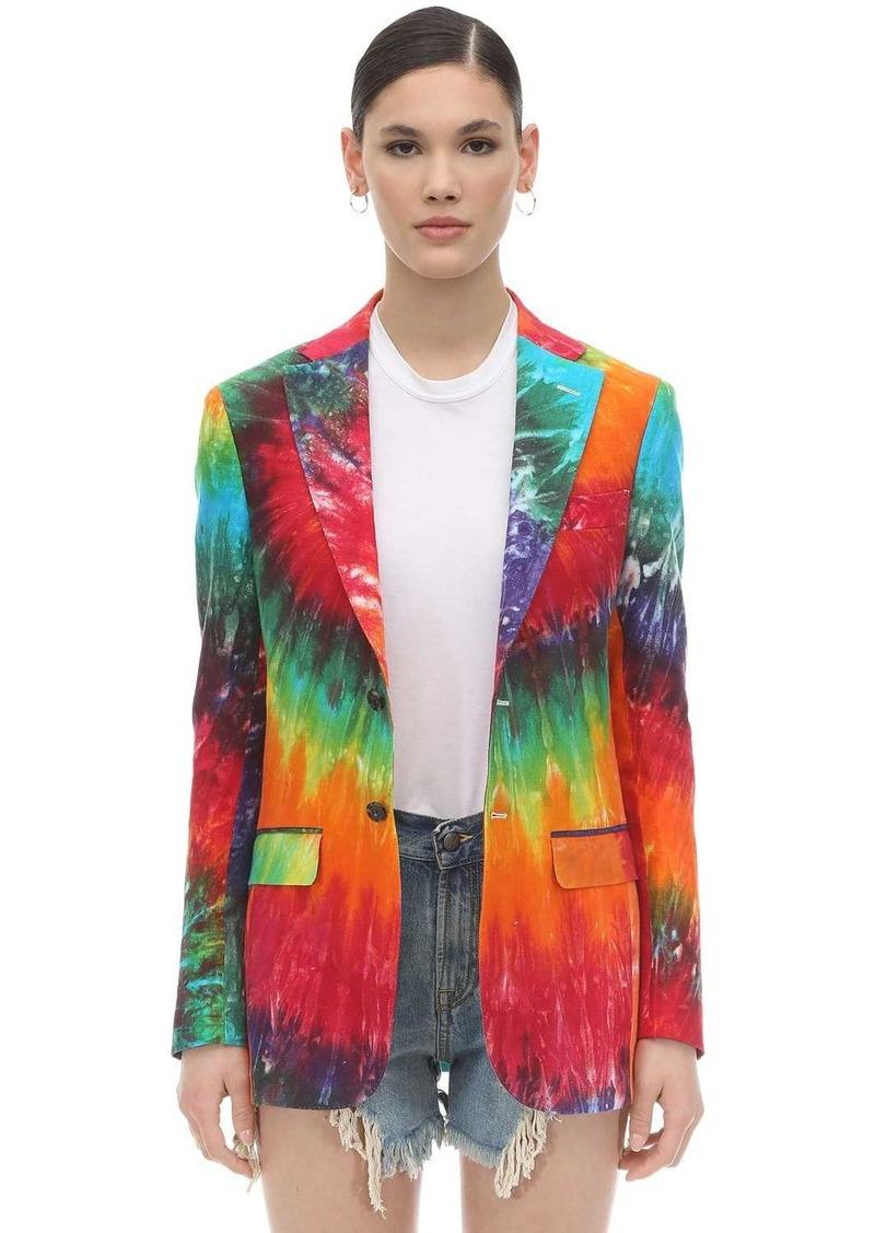 R13 Rainbow Tie Dyed Linen Jacket