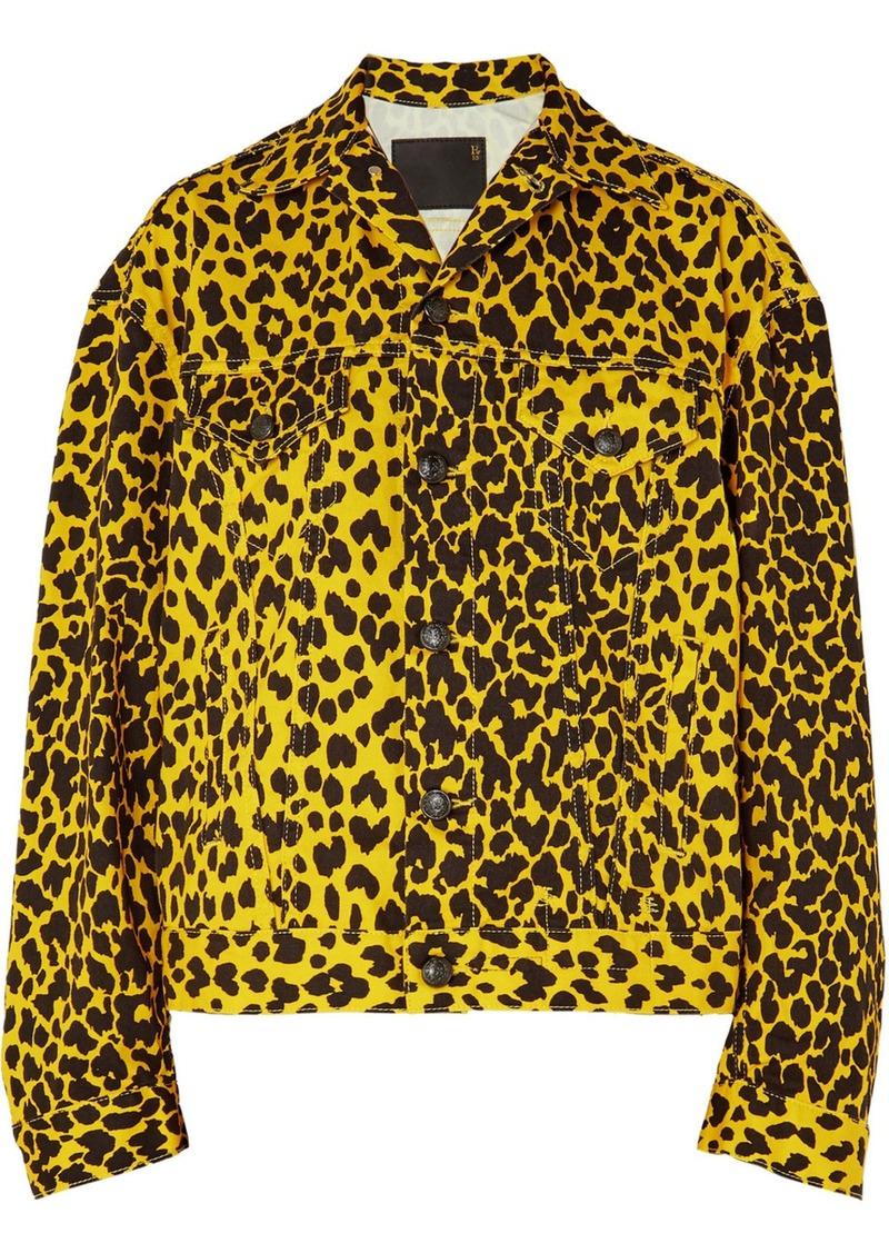 R13 Reed Oversized Leopard-print Denim Jacket