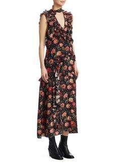 R13 Ruffle Floral Dress