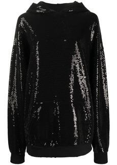 R13 sequin embellished hoodie