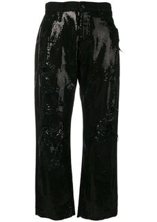 R13 sequin embellished jeans