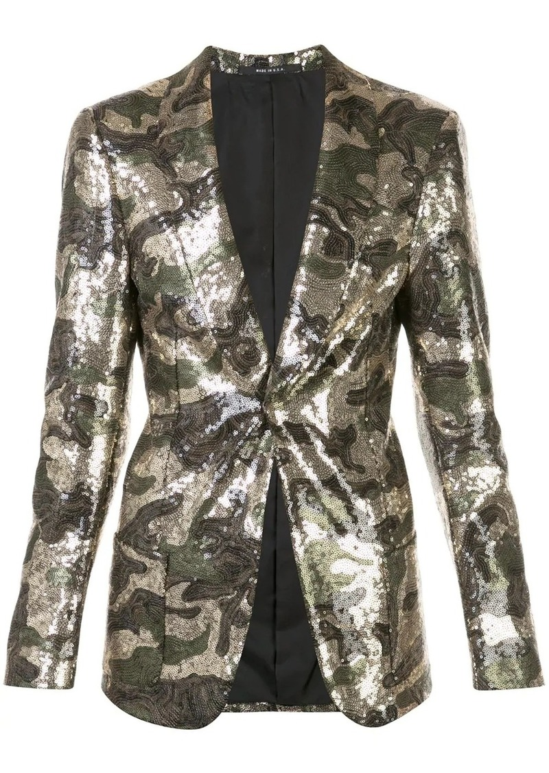 R13 sequined camouflage blazer
