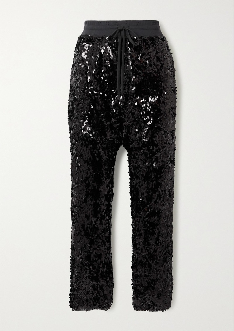 R13 Sequined Cotton-jersey Track Pants
