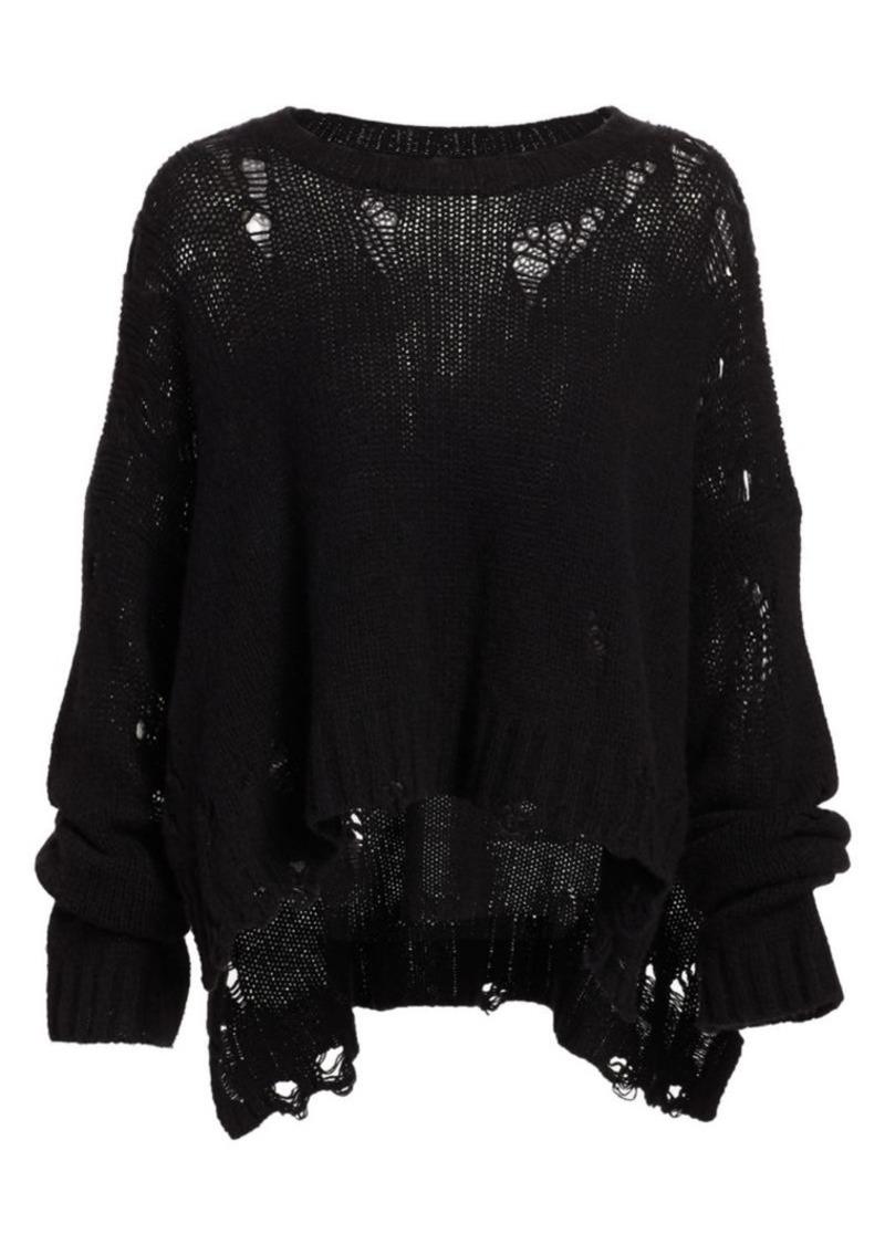 R13 Shredded Oversized Cashmere Sweater