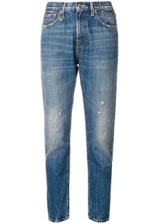 R13 skinny distressed jeans