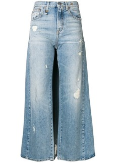 R13 skirted jeans