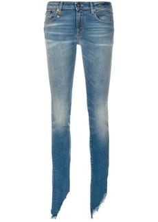 R13 slim distressed jeans