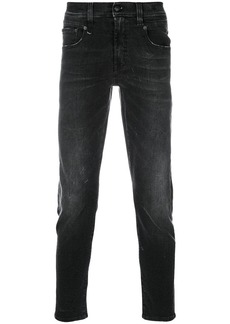 R13 high rise slim-fit jeans