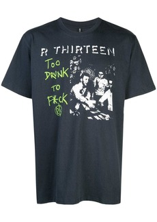 R13 slogan print T-shirt